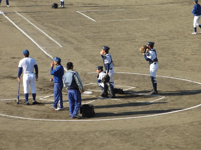 2013.11.17 野球部オープン戦 航空vs津幡 005