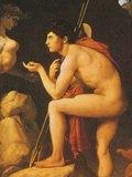 アングル 「スフィンクスの謎を解くオイディプス」1808年