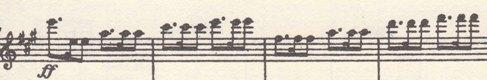 楽譜 ベートーヴェン 交響曲第7番イ長調 第1楽章 423小節以降