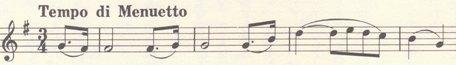 楽譜 ベートーヴェン_ピアノソナタ第20番 第2楽章冒頭の主題