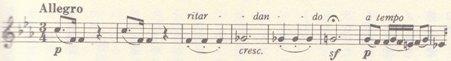 楽譜 ベートーヴェン ピアノ・ソナタ第18番変ホ長調冒頭