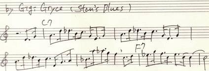 楽譜 Stans Blues