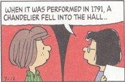 (2)1791年に演奏されたとき シャンデリアが落ちたんです...