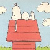屋根の上で眠るスヌーピー