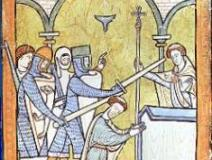 Thomas_Becket_Murder[1]13th-century manuscript illumination, an early depiction of Beckets assassination