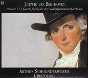 ベートーヴェン ピアノ協奏曲第5番「皇帝 」 スホーンデルヴルト(fp ) アンサンブル・クリストフォリ(Alpha )盤