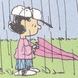 雨の中を歩く by Charles M.Schulz