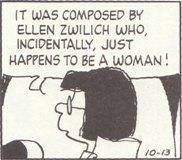 (2)作曲家は エレン ズウィリッチ、女性です!