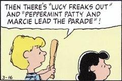 「ルーシー ぶち切れ」、「ペパーミントパテイとマーシーがパレードを先導」!