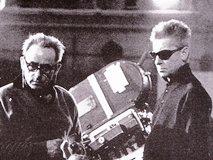 A.J.クルーゾー監督と カラヤン(右)