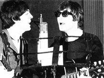 Paul McCartney  John Lennon(right )