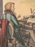 クラヴィーアを弾くモーツァルト(エッチング、G.A.Sasso )