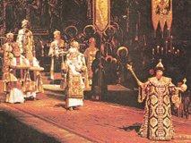 カラヤン演出による「「ボリス・ゴドゥノフ」の舞台写真