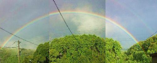 無理やりくっつけた虹
