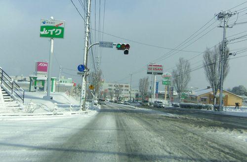 仙台北環状線雪道20131228