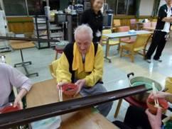 東京都 足立区 介護老人保健施設(入所・短期入所・ショートステイ)  千寿の郷 流しソーメン2