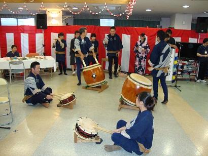 東京都 足立区 介護老人保健施設(入所・短期入所・通所リハビリ) 千寿の郷 納涼祭 祭ばやし