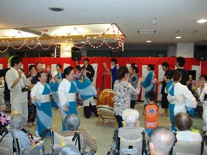 東京都 足立区 介護老人保健施設(入所・短期入所・通所リハビリ) 千寿の郷 納涼祭 香雪会 盆踊り