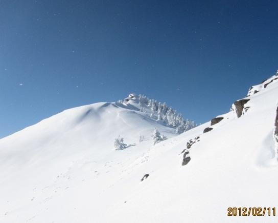 根子岳斜面からの四阿山