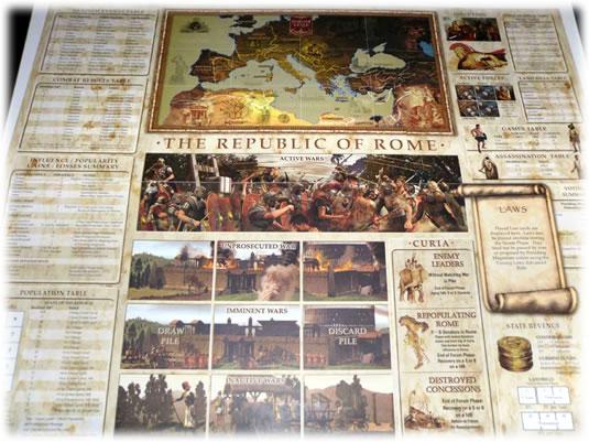 共和制ローマ:ゲームボード