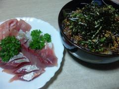 刺身&漬け丼