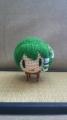 早苗さんは赤い毛糸使わないだろーと思ったら蛙の目で使うんですよね 端材集めてどうにか刺繍しました・・・