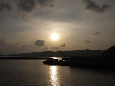 壱岐港に到着_R