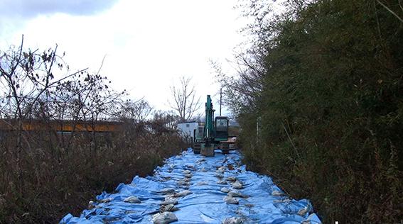 今日の高島チップ投棄現場(2013年12月23日)