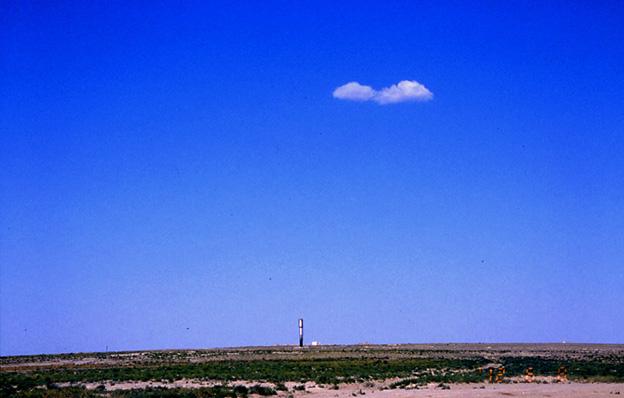 カザフの沙漠で