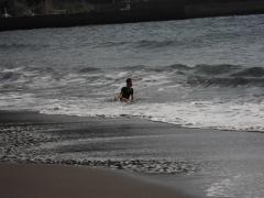 浜尻海岸 波遊び