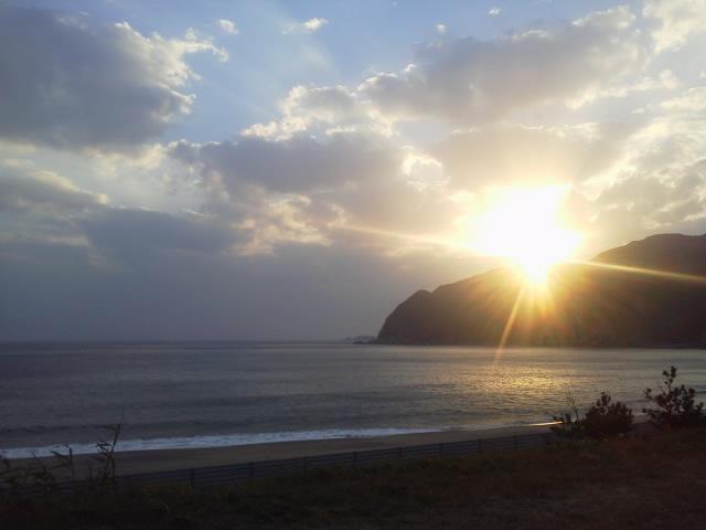 浜尻海岸 夕日