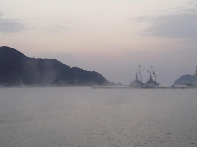 都井岬へ 朝の海