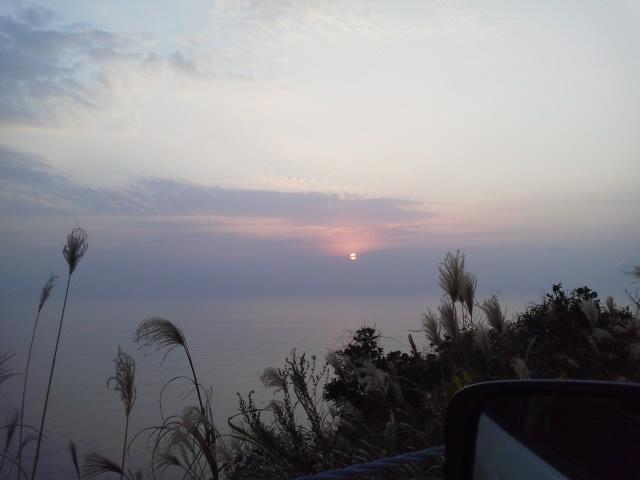 都井岬へ 朝日