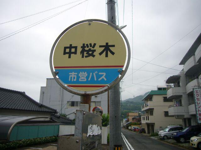 中桜木バス停