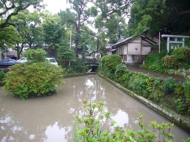 春日神社池方面から望む