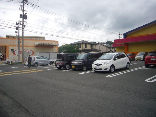 淀姫神社バス停ダイソーモリ