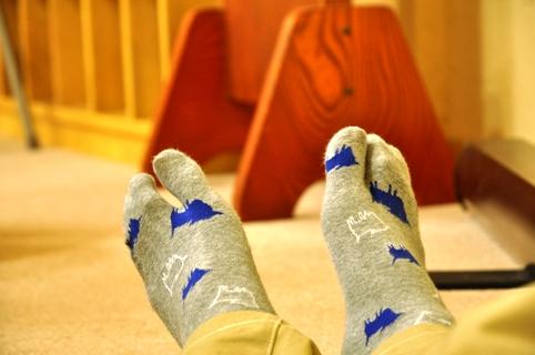 タテさんの靴下!