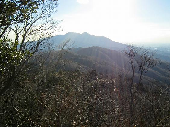 足尾山から望む筑波山!