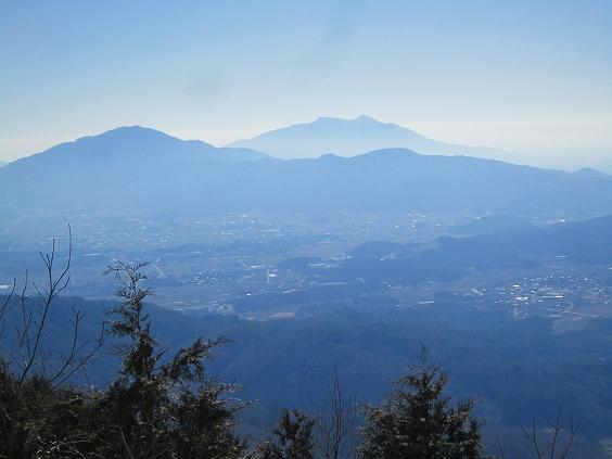 益子からの筑波峰の眺め!