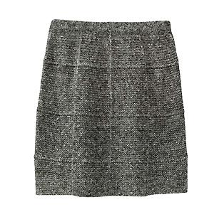 ユニクロのツイードニットスカート