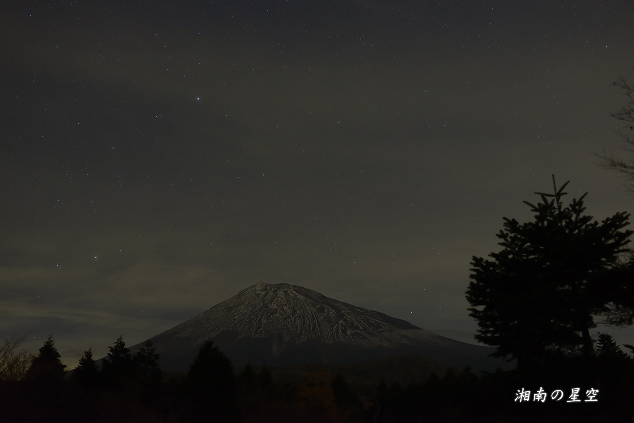 20141123_富士山と北極星