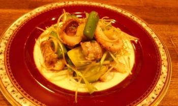 飯蛸と雑魚のサラダ