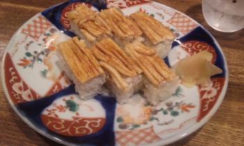 アナゴの箱寿司