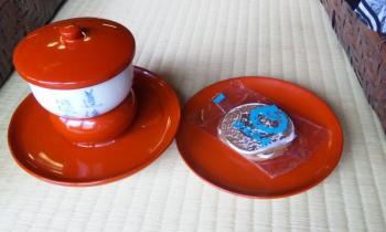 道後温泉 神の湯お茶と煎餅