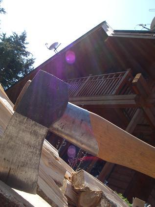 斧と我が家