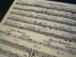 楽譜の紙ナプキン