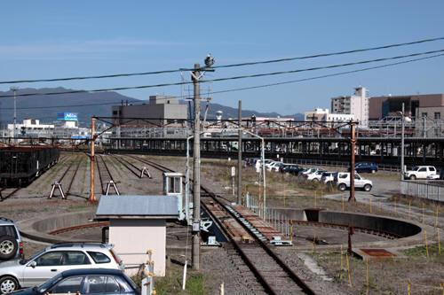 函館運輸所構内の様子