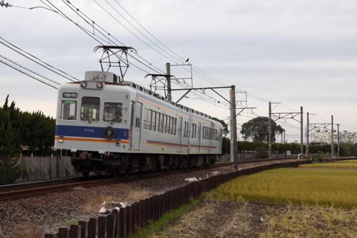 竈山~交通センター前間の下り電車