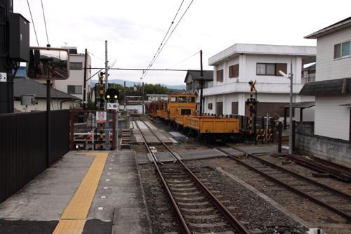 貴志駅ホームから線路終端側