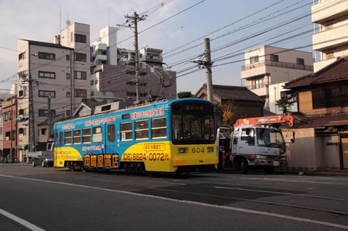 住吉~東粉浜間のモ604
